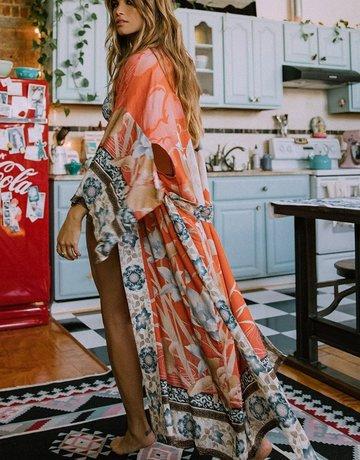 SPELL & THE GYPSY Tangerine Blossom Maxi Kimono