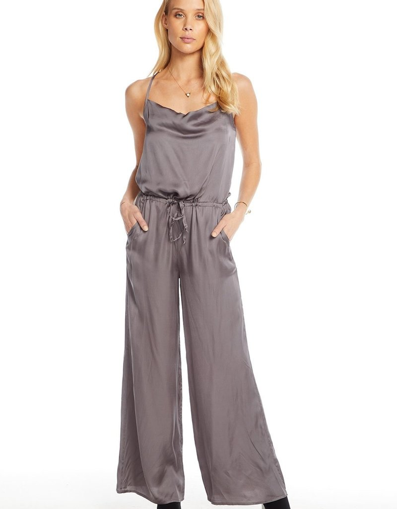 CHASER Silky Cowl Neck Jumpsuit