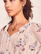 LOVESHACKFANCY Popover Dress Monaco Lilac