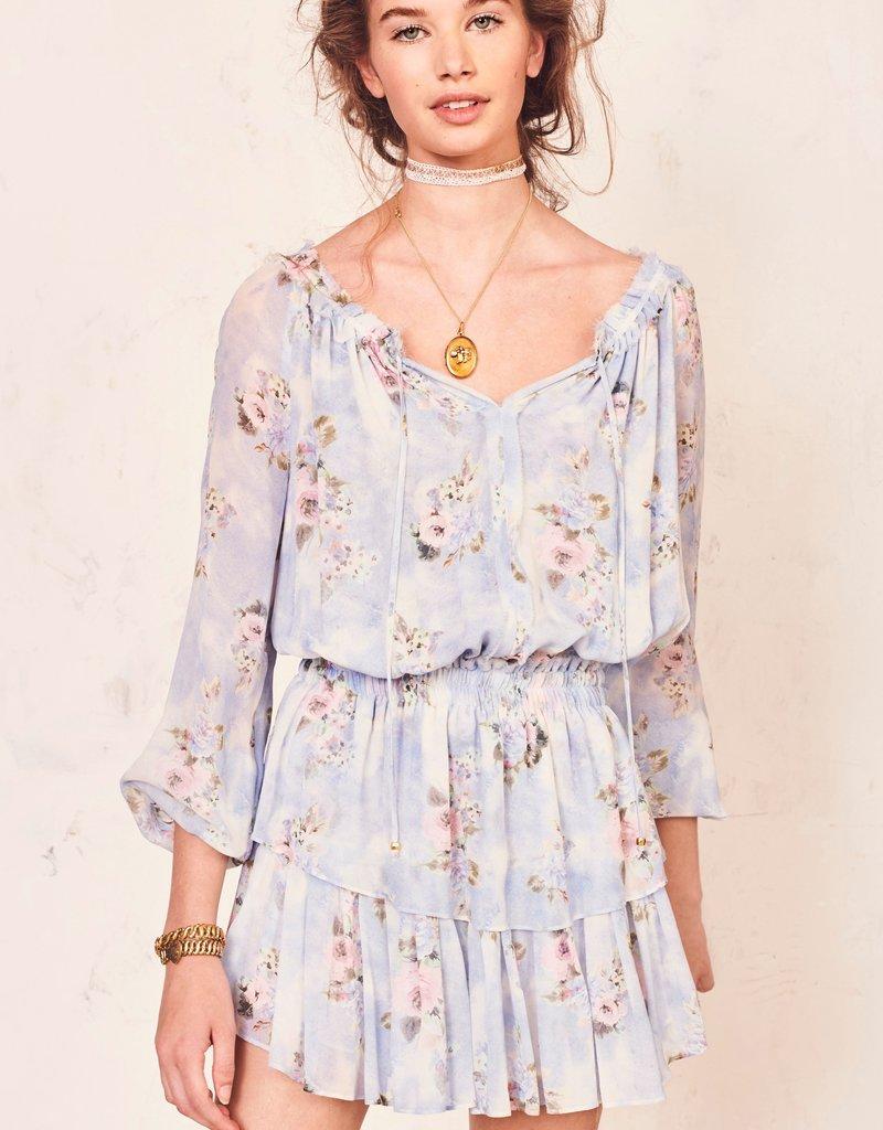 LOVESHACKFANCY Popover Dress Water Petal