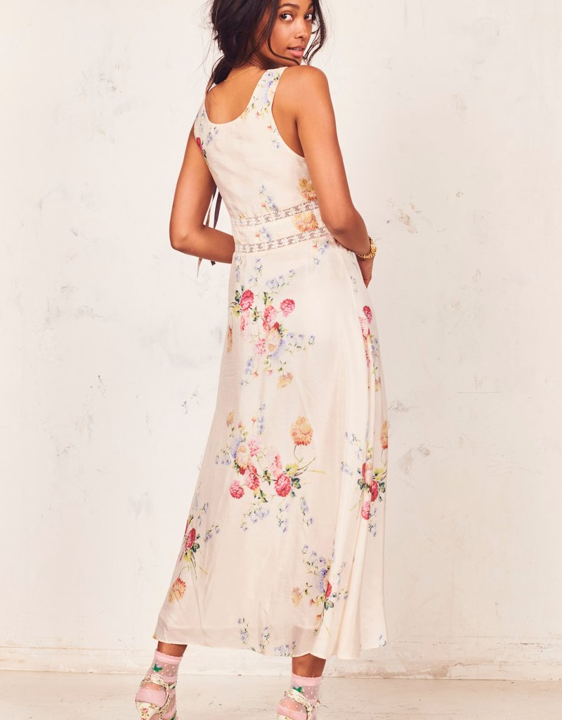 LOVESHACKFANCY Cream Sabina Dress