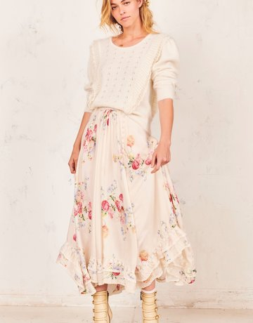 LOVESHACKFANCY Navya Skirt Cream