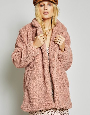 SAGE THE LABEL Revival Coat ~ Rose