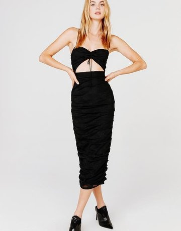 FOR LOVE AND LEMONS Poison Ruched Dress