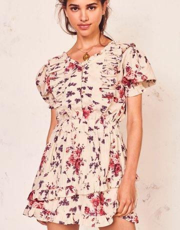 LOVESHACKFANCY Sutton Dress Malbec