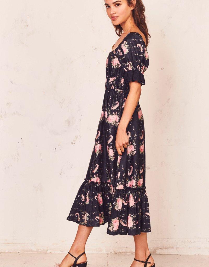 LOVESHACKFANCY Terrence Dress ~ Black Coffee