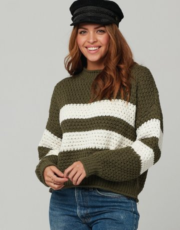 KNOT SISTERS Ozzy Sweater Green