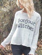 WOODEN SHIPS BonJour Witches Pullover White