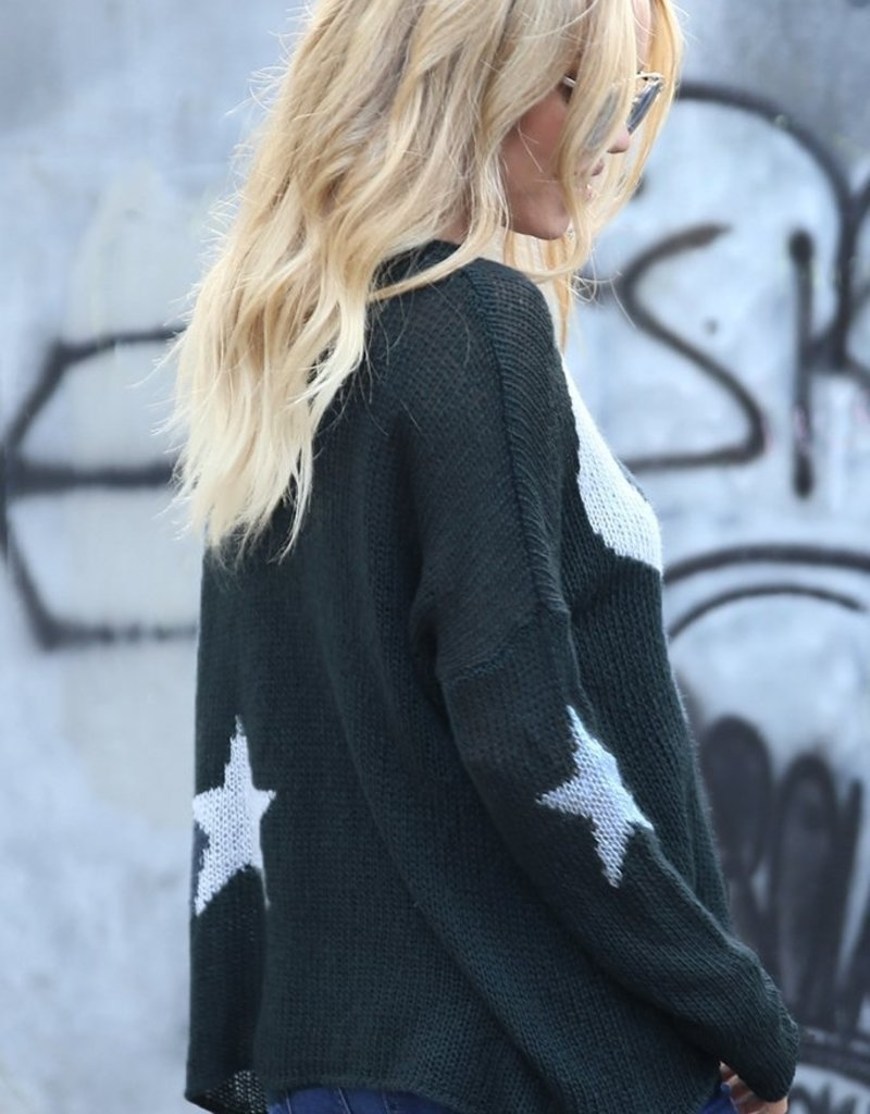 WOODEN SHIPS Vincent Sweater Navy StarMoon