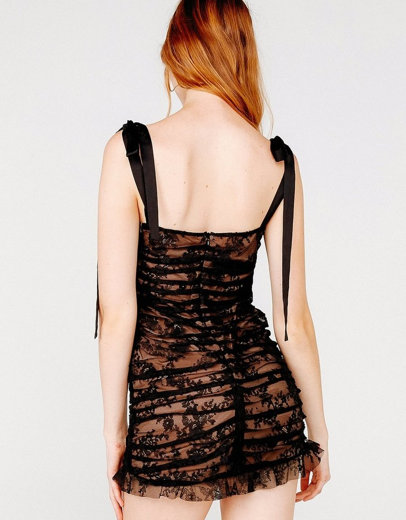 FOR LOVE AND LEMONS Dolly Mini Dress Blacklace