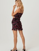 FOR LOVE AND LEMONS Hawn Ruffle Dress Rose