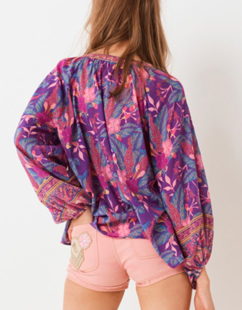 SPELL & THE GYPSY Bianca Blouse Wisteria