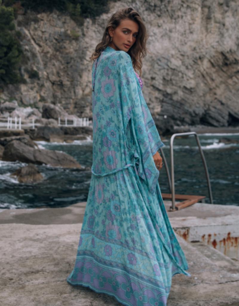 SPELL & THE GYPSY Buttercup Maxi Kimono Ocean