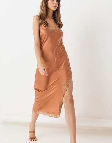 SPELL & THE GYPSY Rizzo Silk Slip Copper