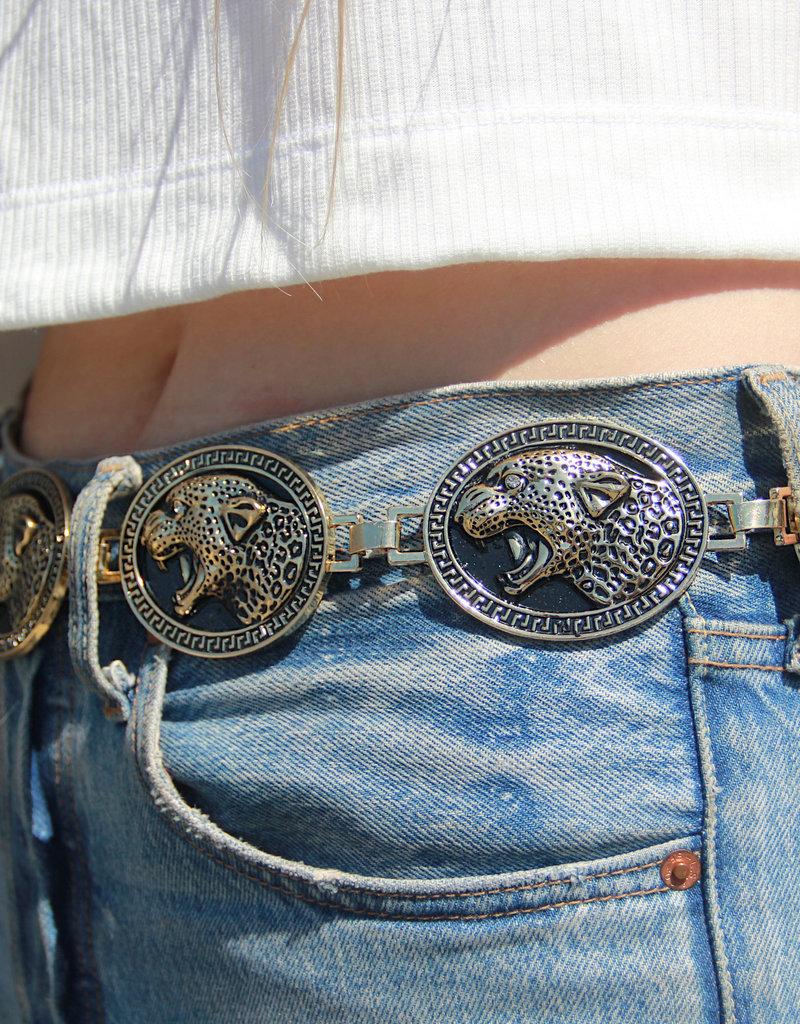 EASTNWESTLABEL Jagger Belt Black Gold