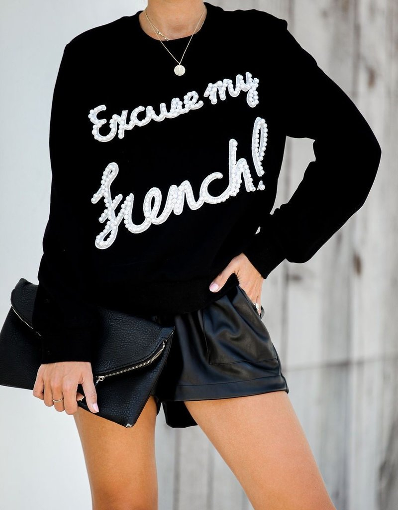 ENGLISH FACTORY Excuse My French Sweater