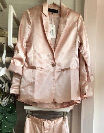 ENGLISH FACTORY Satin Jacket Pearl Pink