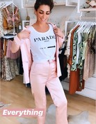 ENGLISH FACTORY Satin Pearl Pink Pant