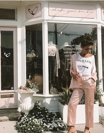 ENGLISH FACTORY Satin Pearl Pink Pant