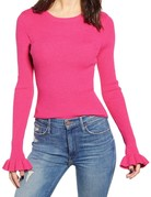 ENGLISH FACTORY Cher Flare Pink Knit