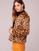 BAND OF GYPSIES Walk on the Wild Side Faux Leopard Coat