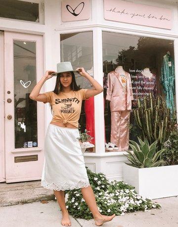 SHAKE YOUR BON BON Vintage Christian Dior Pistachio Midi Skirt