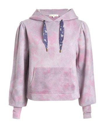 LOVESHACKFANCY Linette Hoodie Pink Multi Dye