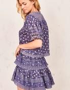 LOVESHACKFANCY Ruffle Mini Skirt Blue Jean