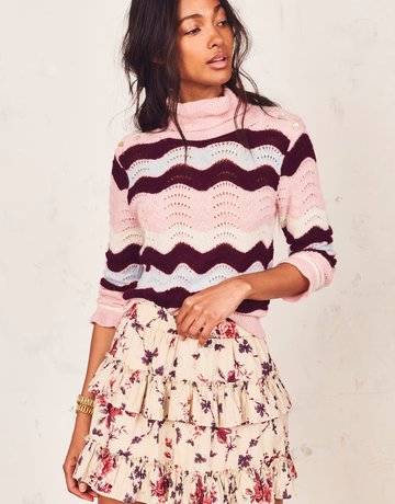 LOVESHACKFANCY Bliss Skirt Malbec