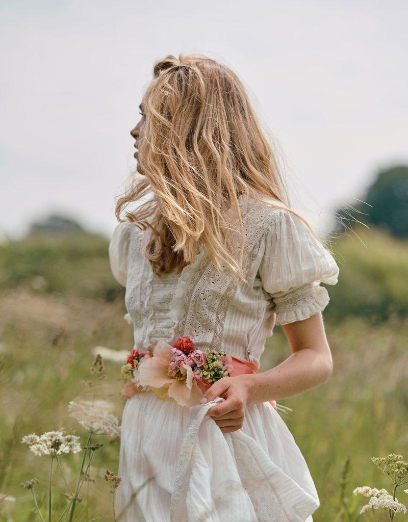 LOVESHACKFANCY Ayla Dress Antique White