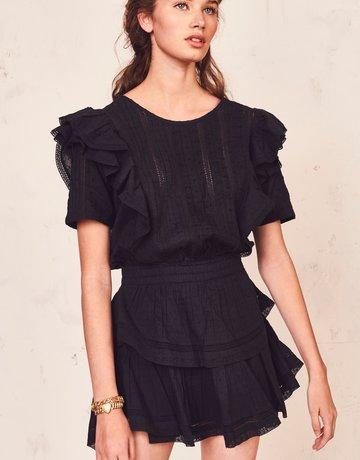 LOVESHACKFANCY Natasha Dress Black
