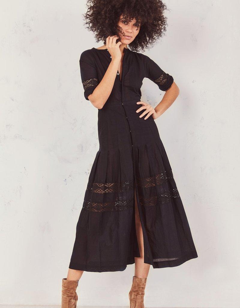 LOVESHACKFANCY Edie Dress Black