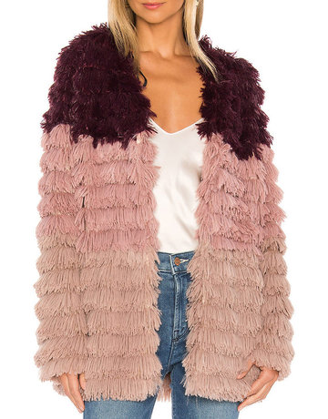 Mink Pink Lost Weekend Fur Coat