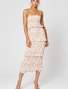 WINONA Florence Shirring Midi Dress