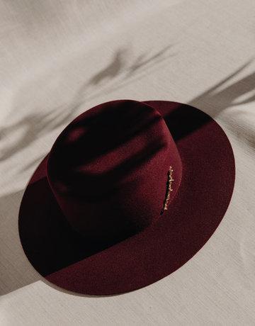 VAN PALMA Jade Hat Burgundy