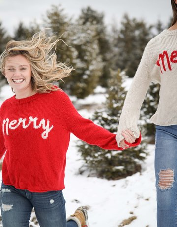 WOODEN SHIPS Merry Sweater Red/Ginger