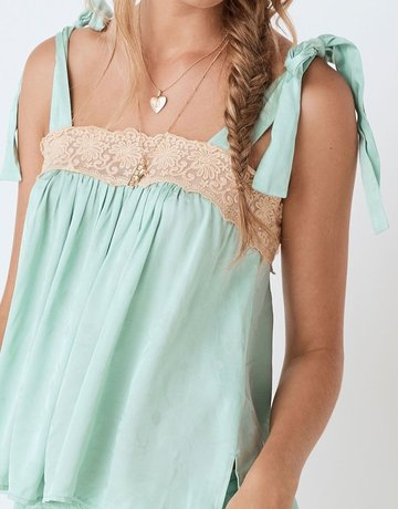 SPELL & THE GYPSY Ocean Cami Seafoam