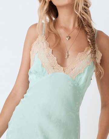 SPELL & THE GYPSY Ocean Lace Slip Seafoam