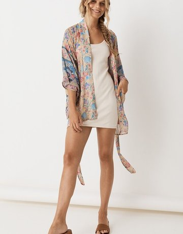 SPELL & THE GYPSY Seashell Short Robe Opal