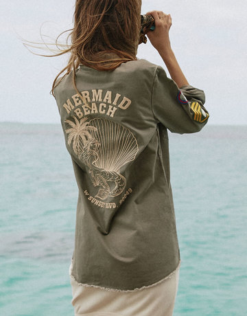 SPELL & THE GYPSY Mermaid Twill Jacket Khaki