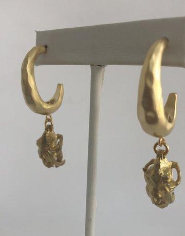 Twiga Tiger Skull Drop ~ Gold