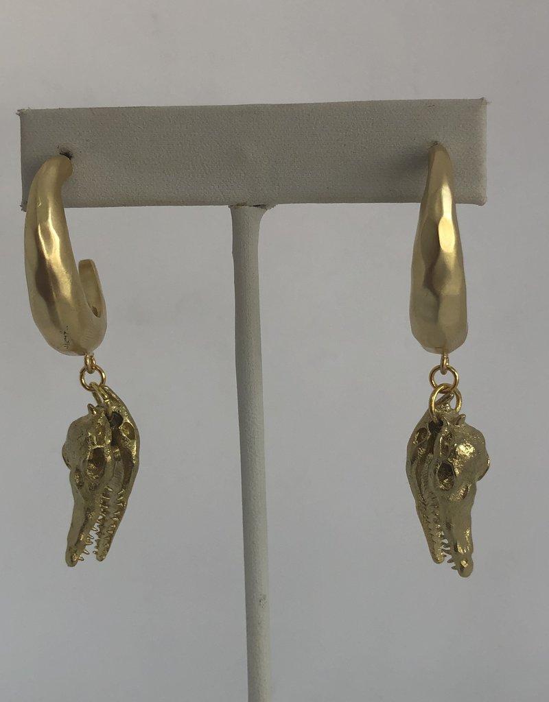 Twiga Croc Skull Drop ~ Gold