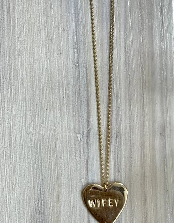 "PARADIGM DESIGNS ""Wifey"" Heart Necklace"