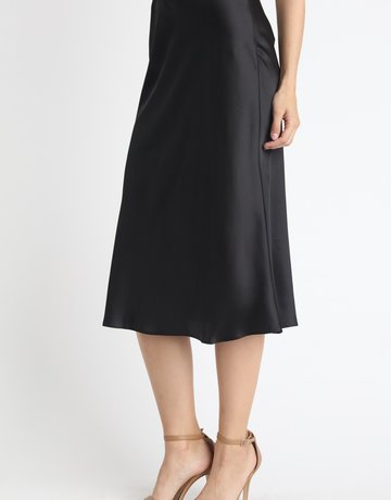 SHAKE YOUR BON BON Keep It Classy Midi Skirt Black
