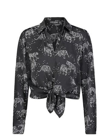 David Lerner Portman Button Down ~ Tiger
