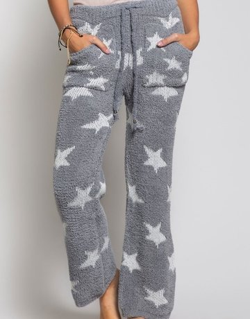 SHAKE YOUR BON BON Cozy Wozy Pants White Star