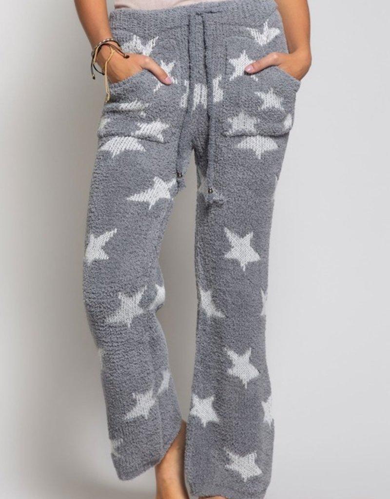 SHAKE YOUR BON BON Cozy Wozy Pants White Star