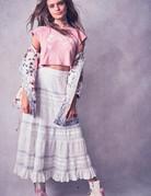 LOVESHACKFANCY Ann Marie Skirt White