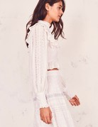 LOVESHACKFANCY Doreen Crop top White