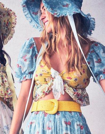 LOVESHACKFANCY Soleil Top Multi Floral